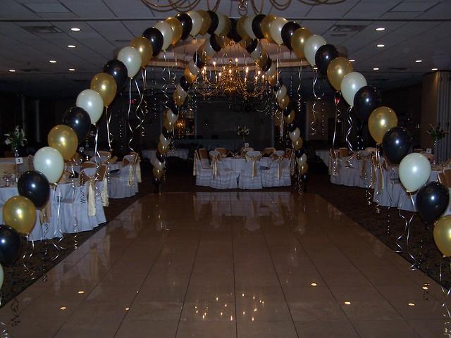 Dance floor balloon arch flickr photo sharing for Balloon dance floor decoration