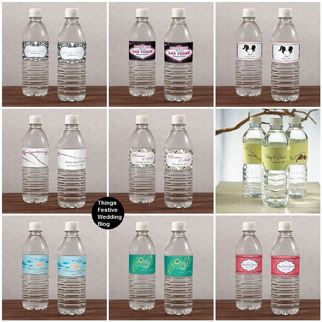 wedding water bottle labels another way to personalize your wedding