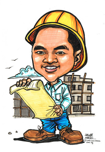 civil engineer caricature