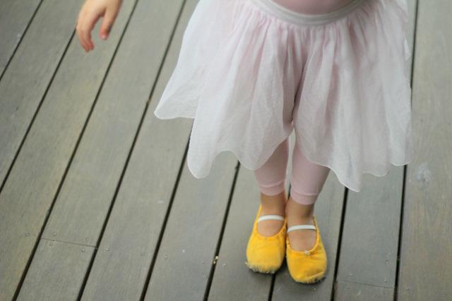 (very) pre-loved ballet shoes & pre-loved ballet skirt