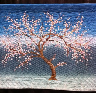 Cherry Blossoms~ Quilt by Kim Butterworth