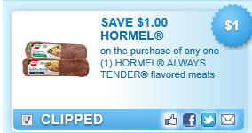 $1.00 Off Hormel Always Tender Meat Coupon
