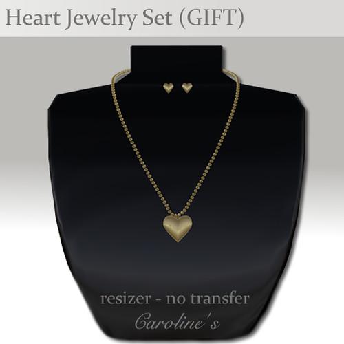 Caroline's Jewelry Heart Jewelry Set (GIFT)