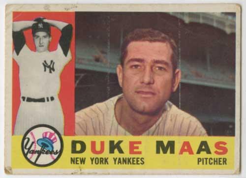 1960 Topps Duke Maas