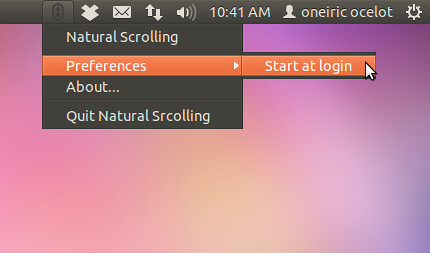 Ubuntu natural scroll