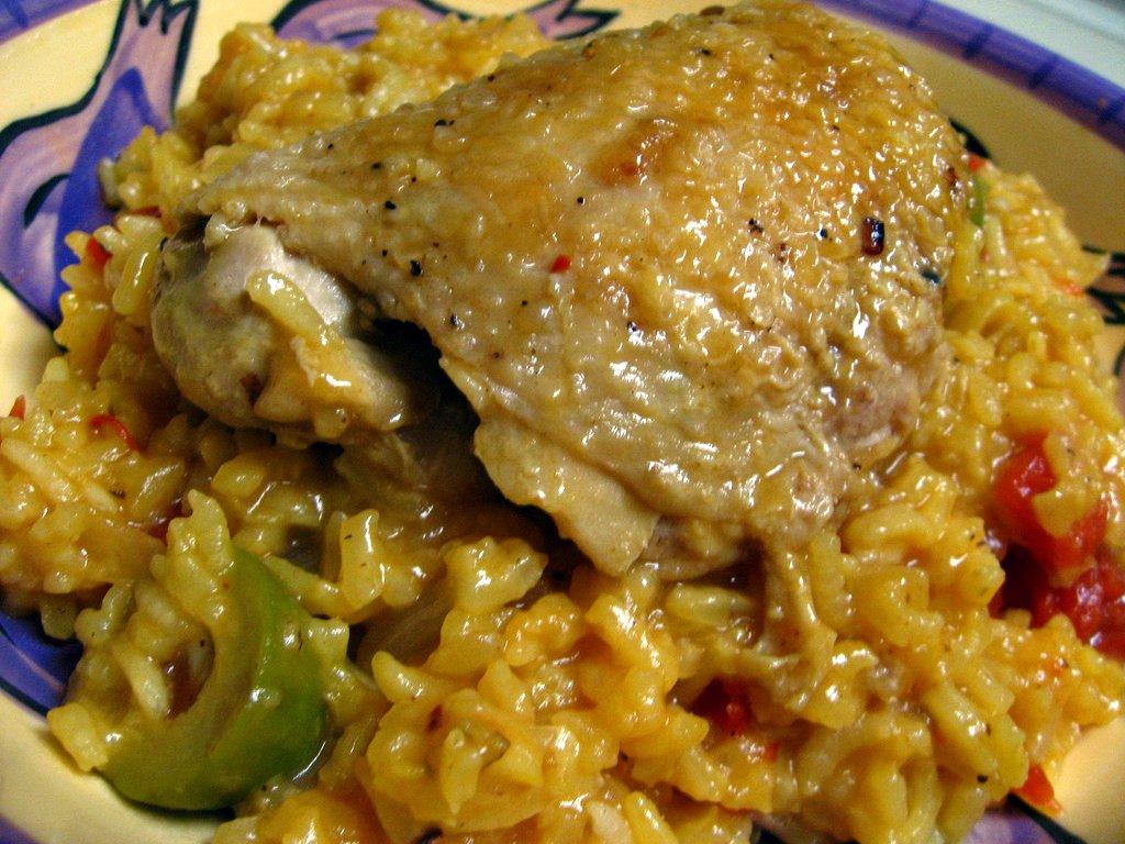 Yellebellyboo arroz con pollo - Arroz salteado con pollo ...