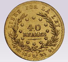 1854 40 Reales Uruguay