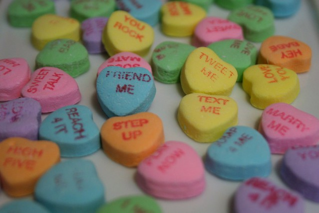 #45 Tweet Me, Friend Me, Text Me Conversation Hearts #photo365