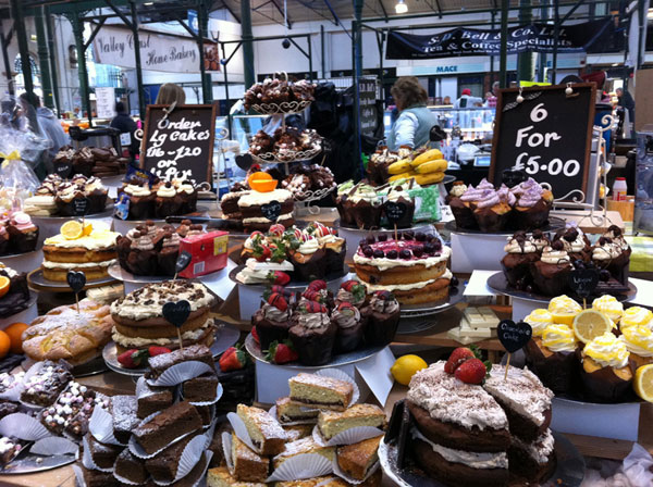 Cakes and buns at St George's Market