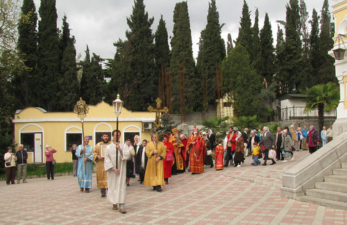 An Easter Procession and Blessing, St Alexander Nevsky Cathedral, Yalta, Crimea
