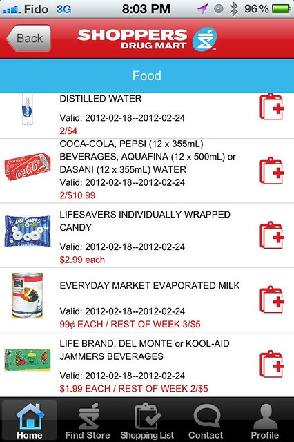 Shoppers Drugmart iPhone App