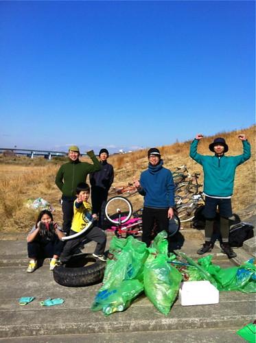 120219 庄内川河川敷 清掃整備 & CXタイム計測会