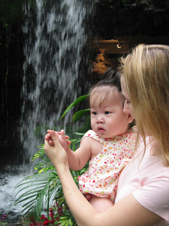 Anna in China waterfall (eyes)