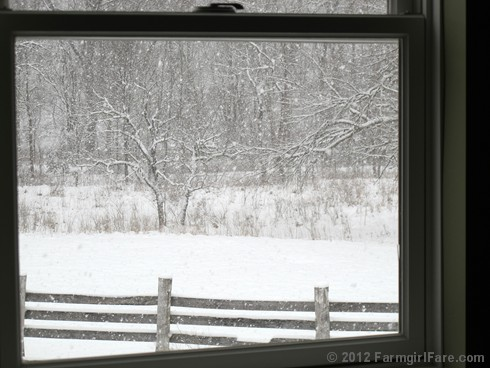 Snowfall through the upstairs windows 8 - FarmgirlFare.com