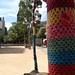 yarn bombed park