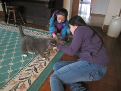 Playing with Cat at Hope House