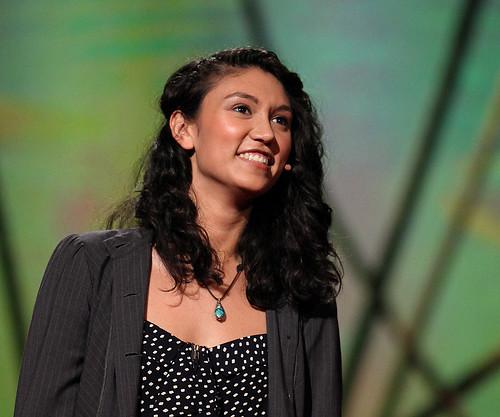 Sarah Kay performing at TED