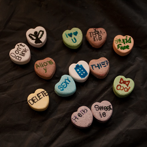 Don't blink: Dr. Who themed sweet hearts