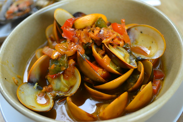 Sautéed Clams with Assorted Vegetables, Loco Spanish Tapas Bar