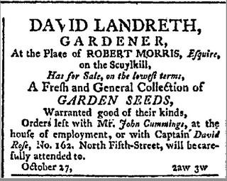 David Landreth, Gardener