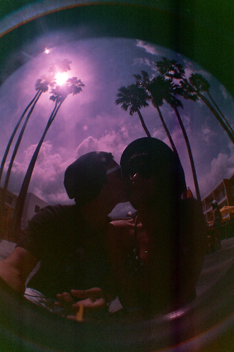 Coachella Fisheye Saguaro Pool Party Lomography