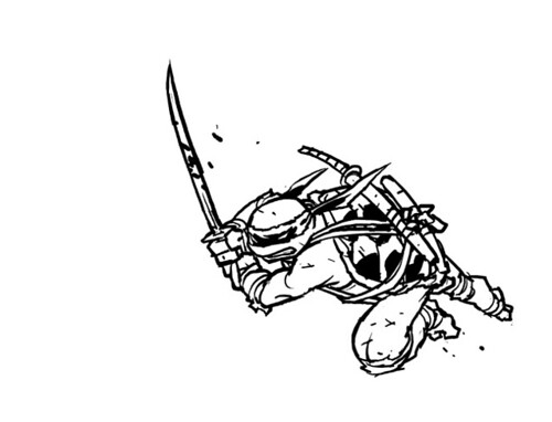 "IDW :: Teenage Mutant Ninja Turtles MICRO-SERIES #4; LEONARDO // ""LEO 3"" ..concept art by Ross Campbell (( 2012 ))"