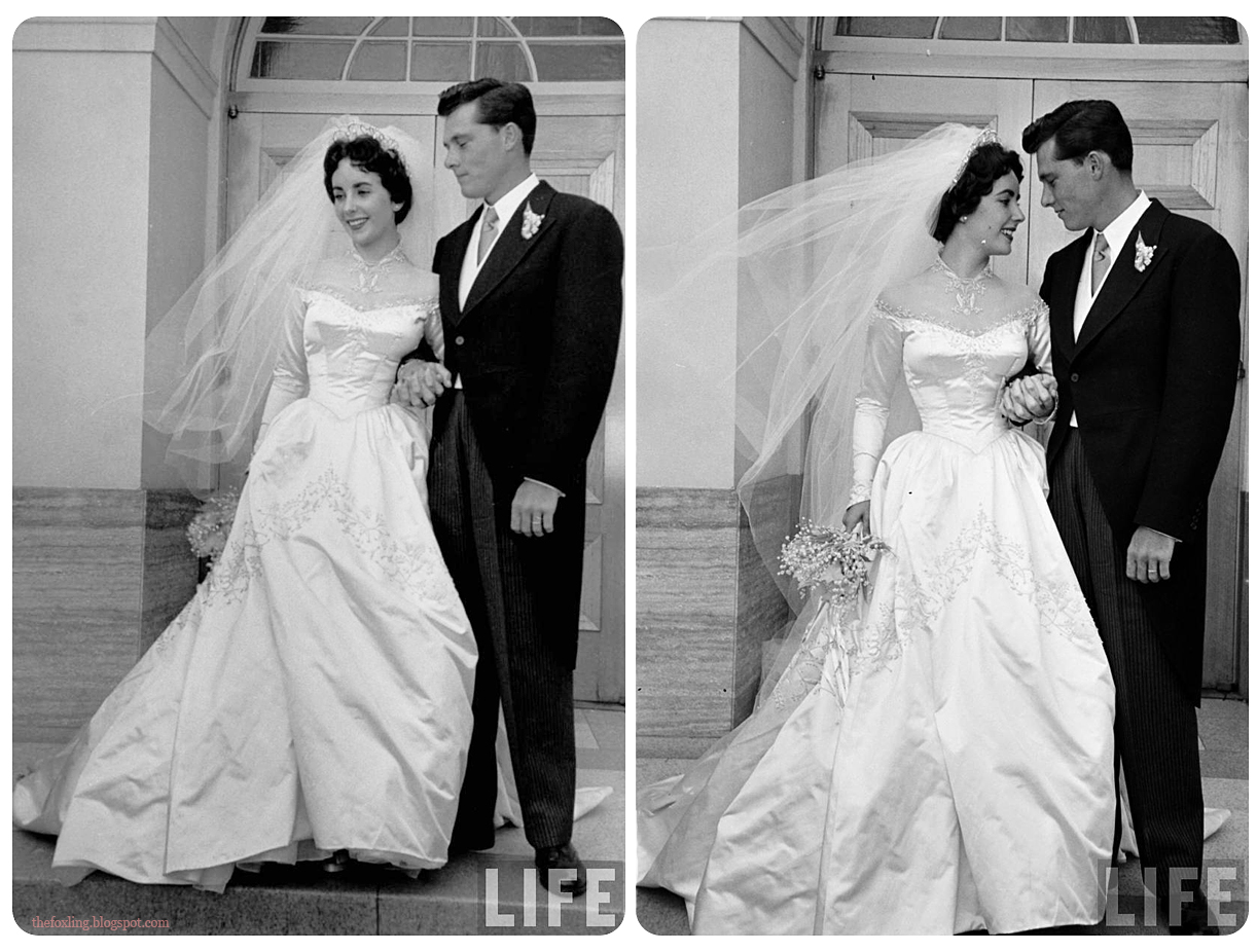 The foxling the many wedding dresses of elizabeth taylor for Elizabeth taylor s wedding dresses