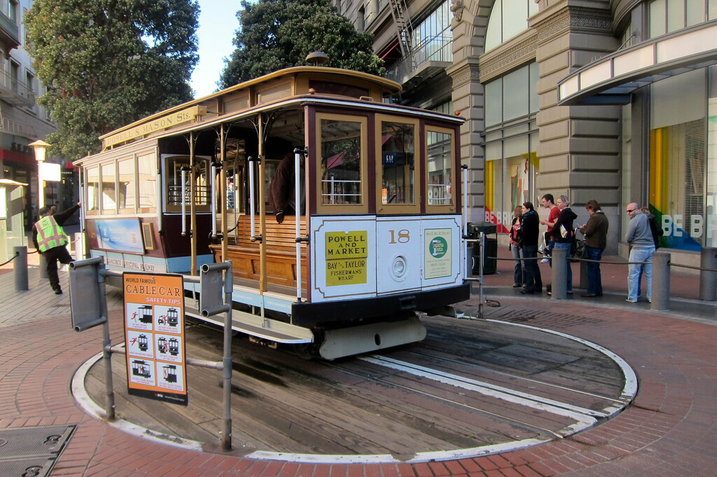 San Francisco - Retail District: Powell Street Cable Car Turntable