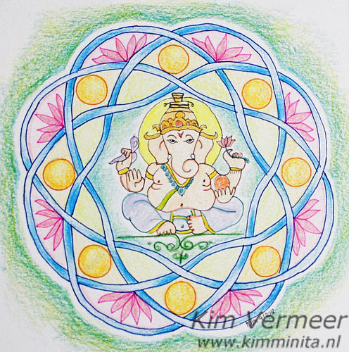 Ganesha mandala by kimminita