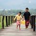 Children in Maing Thauk village by pinnee.