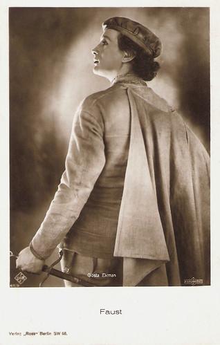 Gösta Ekman in Faust