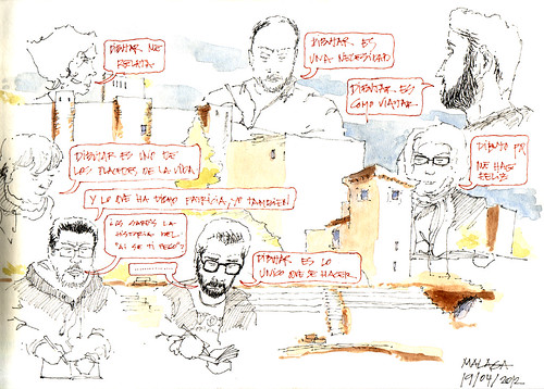 Malaga Sketchcrawl-amigos
