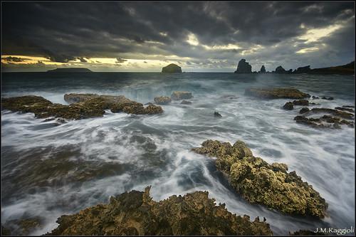seascape sunrise caribbean guadeloupe