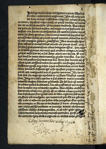 Annotations in Legenda S. Annae