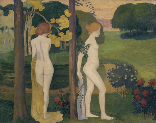 Aristide Maillol - Two Nudes within a Landscape [1895] by Gandalf's Gallery