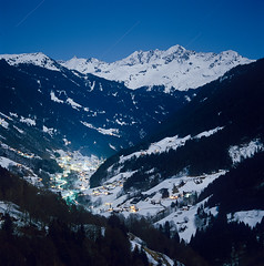 Moonlight over Silbertal, Austria