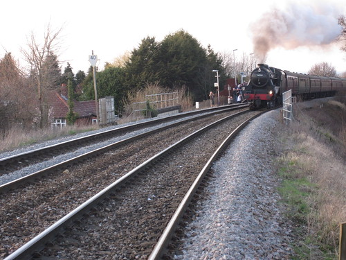 Steam train at Dilton Marsh station