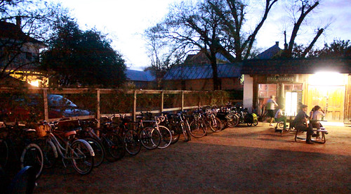 Crowded Bicycle Parking - Friendly Spot