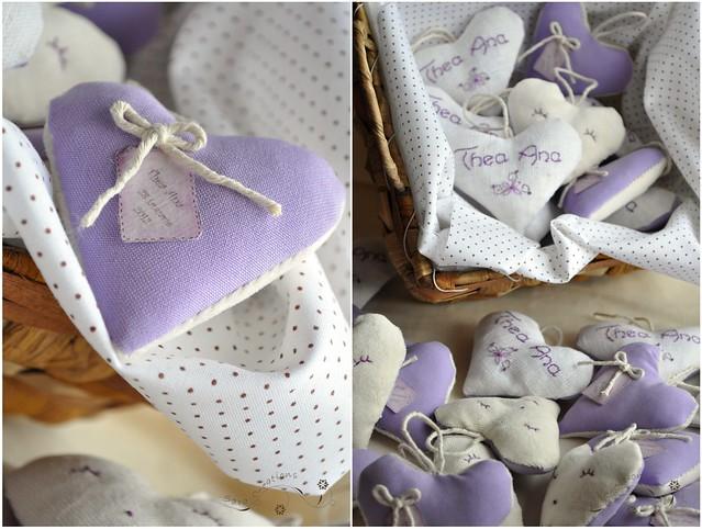 inimioare personalizate ( marturii botez ) - hearts favor
