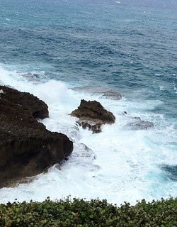 Image of Arecibo Lighthouse near Arecibo. lighthouse rocks waves puertorico aricebo