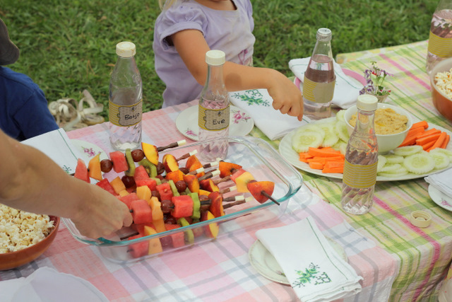 Purple Pear Organic Farm Birthday Party - simple healthy party food