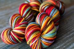 'choco rainbow' Gaia organic merino 8oz