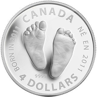 Canada 4-dollar birth year coin