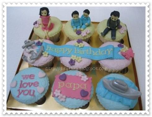 cupcake for papa by DiFa Cakes