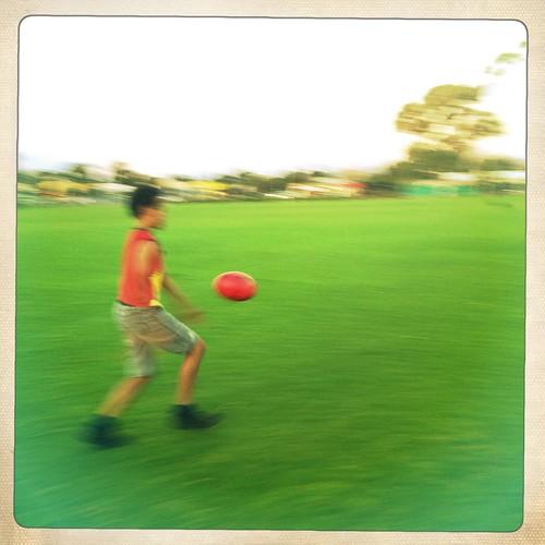 Kicking practice. Day 117/366.