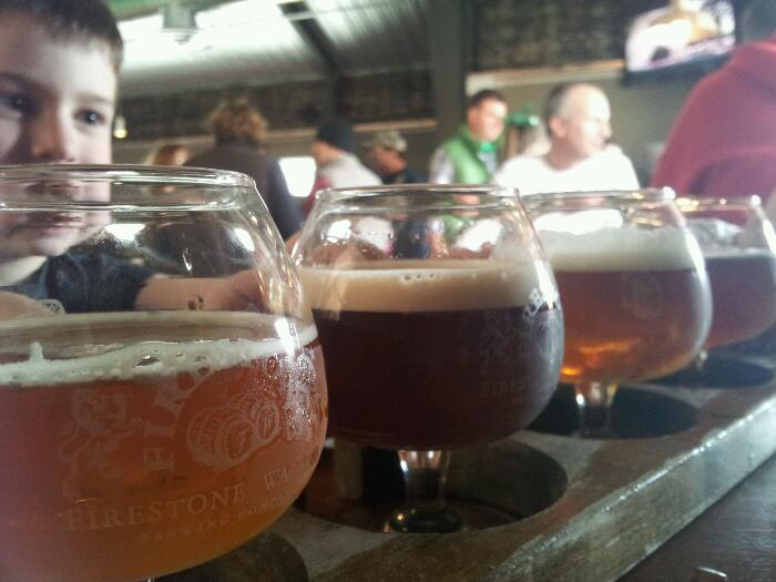 A four sample flight of Firestone Walker awesomeness