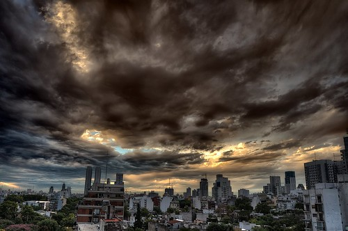 city sunset storm water argentina rain clouds buildings lluvia edificios agua buenosaires afternoon ciudad nubes ocaso hdr tarde