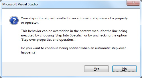 "NET/Visual Studio: disable ""Step over properties and operators"