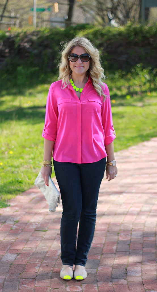 bright neon outfit idea