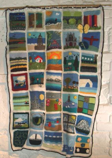 Our 'Your Local Landscape' Challenge Blanket hanging proud!
